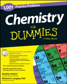 1,001 Chemistry Practice Problems for Dummies, Paperback Book