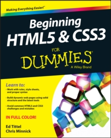 Beginning Html5 & Css3 for Dummies, Paperback Book