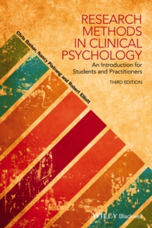Research Methods in Clinical Psychology - an      Introduction for Students and Practitioners, 3E, Paperback Book