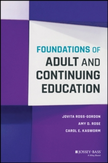 Foundations of Adult and Continuing Education, Hardback Book