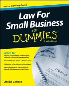 Law for Small Business for Dummies UK Edition, Paperback Book