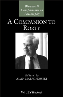 A Companion to Rorty, Hardback Book