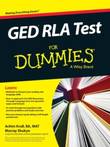 GED RLA For Dummies, Paperback / softback Book