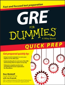 GRE For Dummies Quick Prep, Paperback / softback Book