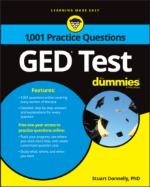 1,001 GED Practice Questions For Dummies, Paperback / softback Book