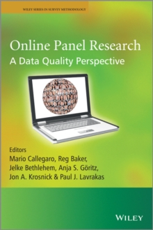 Online Panel Research : A Data Quality Perspective, Paperback / softback Book