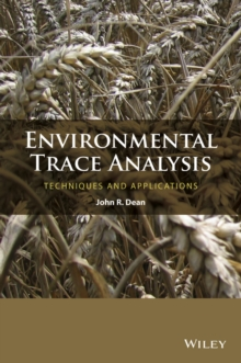 Environmental Trace Analysis : Techniques and Applications, Hardback Book