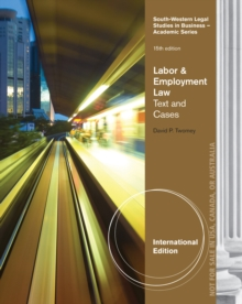Labor and Employment Law : Text and Cases, International Edition, Paperback / softback Book