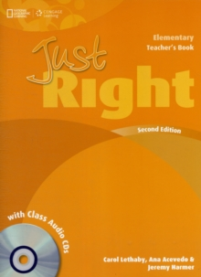 Just Right Elementary: Teacher's Book with Class Audio CD, Mixed media product Book
