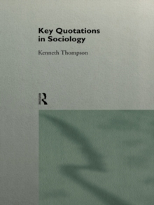 Key Quotations in Sociology, PDF eBook