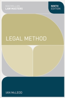 Legal Method, Paperback / softback Book