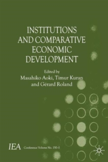 Institutions and Comparative Economic Development, Paperback Book
