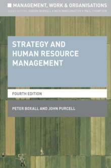 Strategy and Human Resource Management, Paperback Book