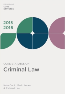 Core Statutes on Criminal Law 2015-16, PDF eBook