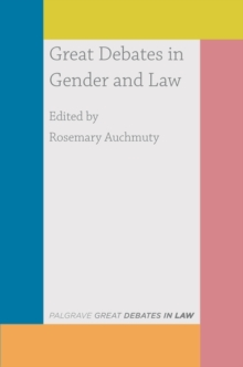 Great Debates in Gender and Law, Paperback / softback Book