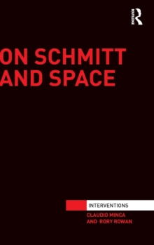 On Schmitt and Space, Hardback Book
