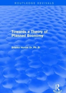 Towards a Theory of Planned Economy, Hardback Book