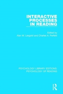 Interactive Processes in Reading, Hardback Book