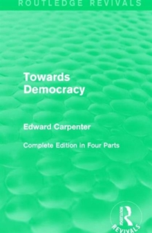 Towards Democracy, Hardback Book