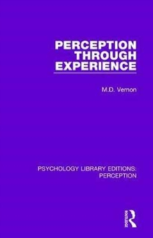 Perception Through Experience, Hardback Book