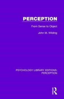Perception : From Sense to Object, Hardback Book