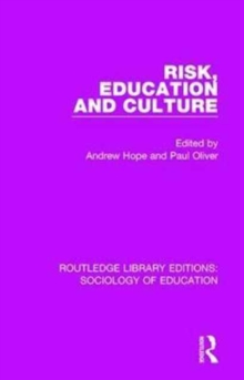 Risk, Education and Culture, Hardback Book