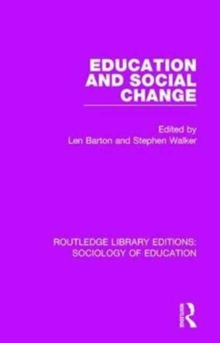 Education and Social Change, Hardback Book