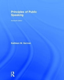 Principles of Public Speaking, Hardback Book