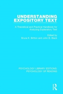 Understanding Expository Text : A Theoretical and Practical Handbook for Analyzing Explanatory Text, Hardback Book