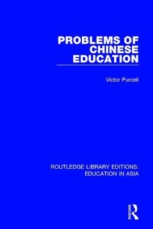 Problems of Chinese Education, Hardback Book