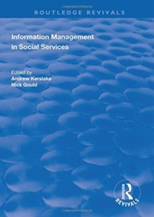 Information Management in Social Services, Hardback Book