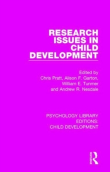 Research Issues in Child Development, Hardback Book