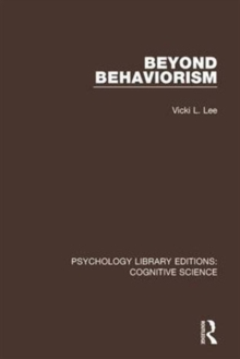 Beyond Behaviorism, Hardback Book