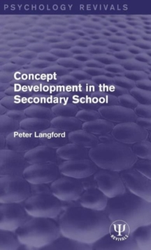 Concept Development in the Secondary School, Hardback Book