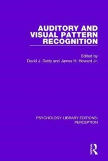 Auditory and Visual Pattern Recognition, Hardback Book
