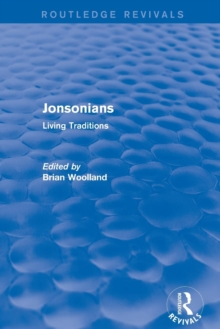 Revival: Jonsonians: Living Traditions (2003), Paperback / softback Book