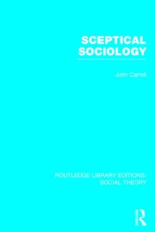 Sceptical Sociology, Hardback Book