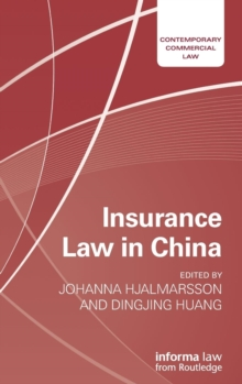 Insurance Law in China, Hardback Book