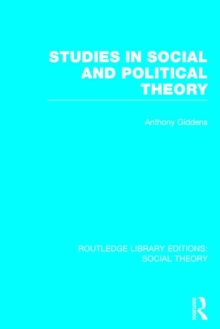 Studies in Social and Political Theory, Hardback Book