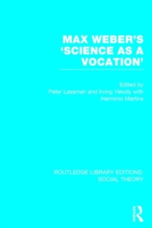 Max Weber's 'Science as a Vocation', Hardback Book