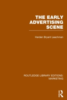 The Early Advertising Scene, Hardback Book