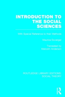 Introduction to the Social Sciences, Hardback Book