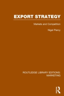 Export Strategy: Markets and Competition, Hardback Book