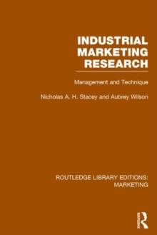 Industrial Marketing Research : Management and Technique, Hardback Book