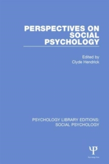 Perspectives on Social Psychology, Hardback Book