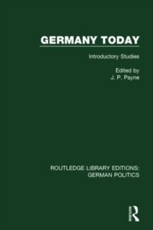 Germany Today : Introductory Studies, Hardback Book