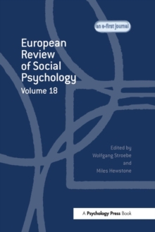 European Review of Social Psychology: Volume 18, Paperback / softback Book