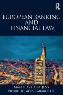 European Banking and Financial Law, Paperback Book