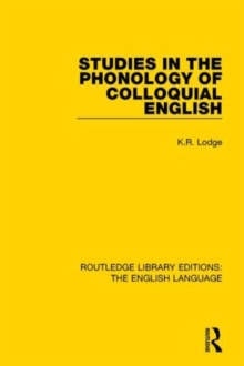 Studies in the Phonology of Colloquial English, Hardback Book