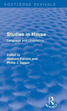 Studies in Hausa : Language and Linguistics, Hardback Book
